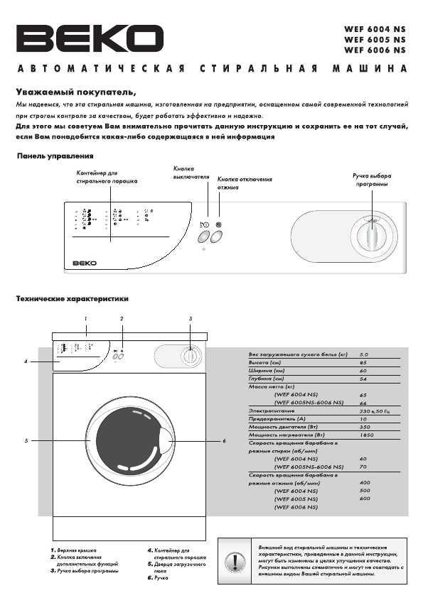 Схема стиральной машины BEKO