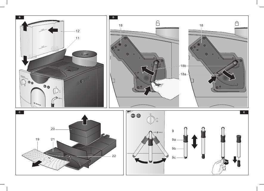 Схема кофемашины Bosch TCA