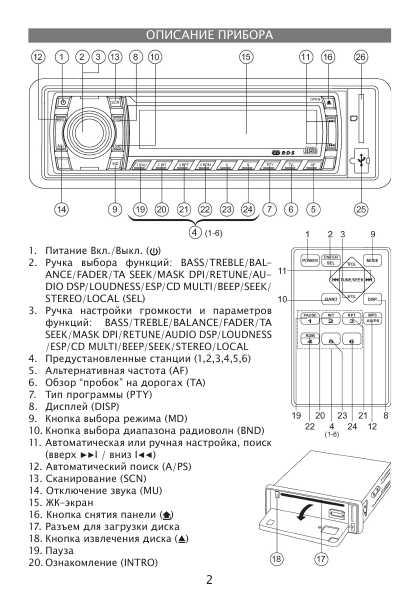 Инструкция магнитолы Elenberg