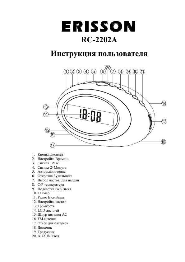 erisson 1408 инструкция