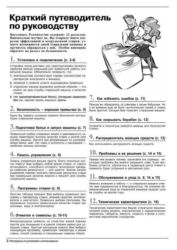 Схемы стиральных машин Indesit
