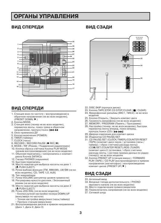 инструкция для музыкального центра lg