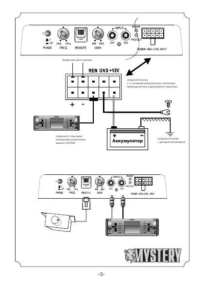 Схема сабвуфера mystery mbs-204a
