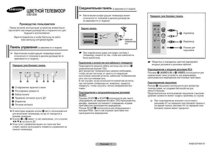 Инструкция samsung cs 21z30zqq