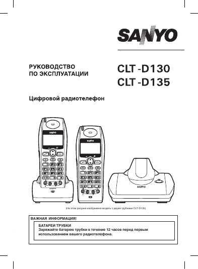 инструкция для sanyo clt