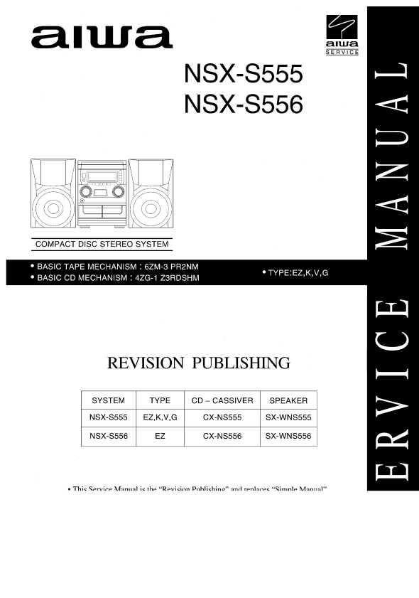 Руководство пользователя aiwa nsx-s555