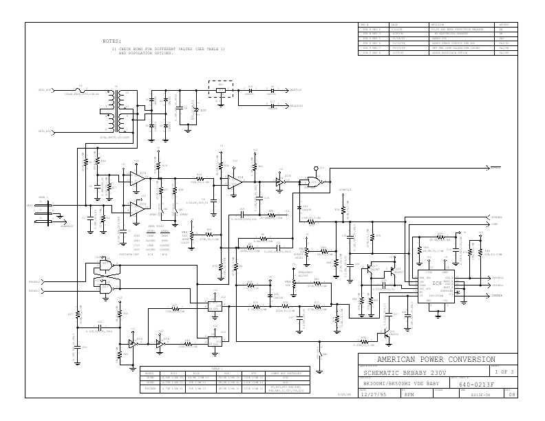 APC BACK-UPS-300, 500,