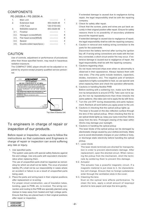 clarion adb341mp инструкция бесплатно