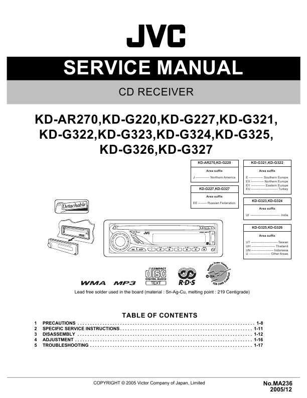 инструкция JVC KD-AR270,
