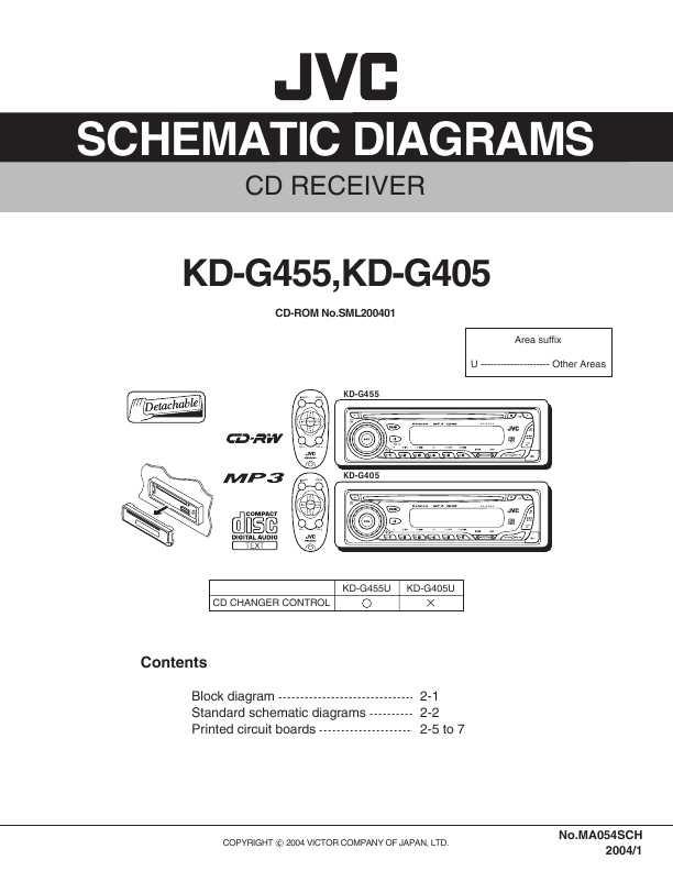 Схема автомагнитолы jvc kd-dv5307