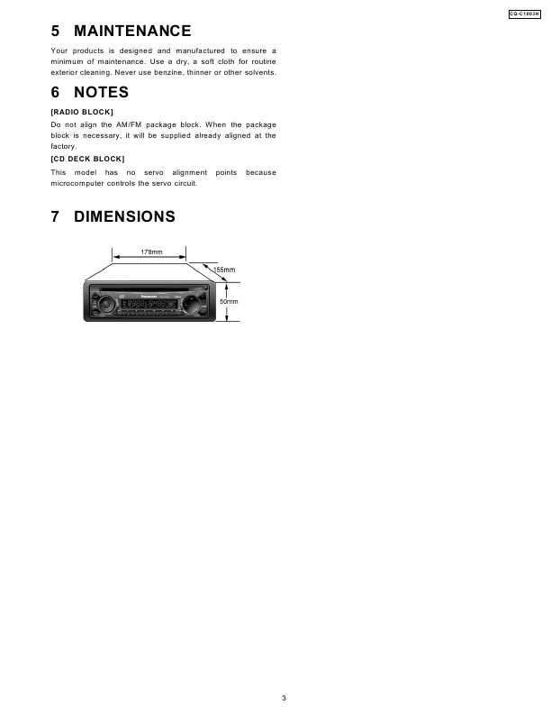 инструкция panasonic cq c1465n