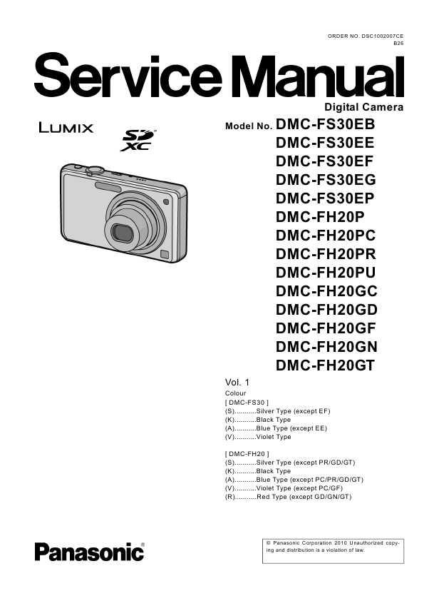 Инструкция Panasonic Dmc Fs3 Lumix