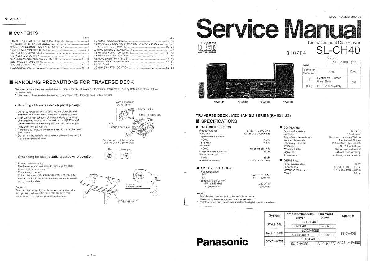 Service manual panasonic 3
