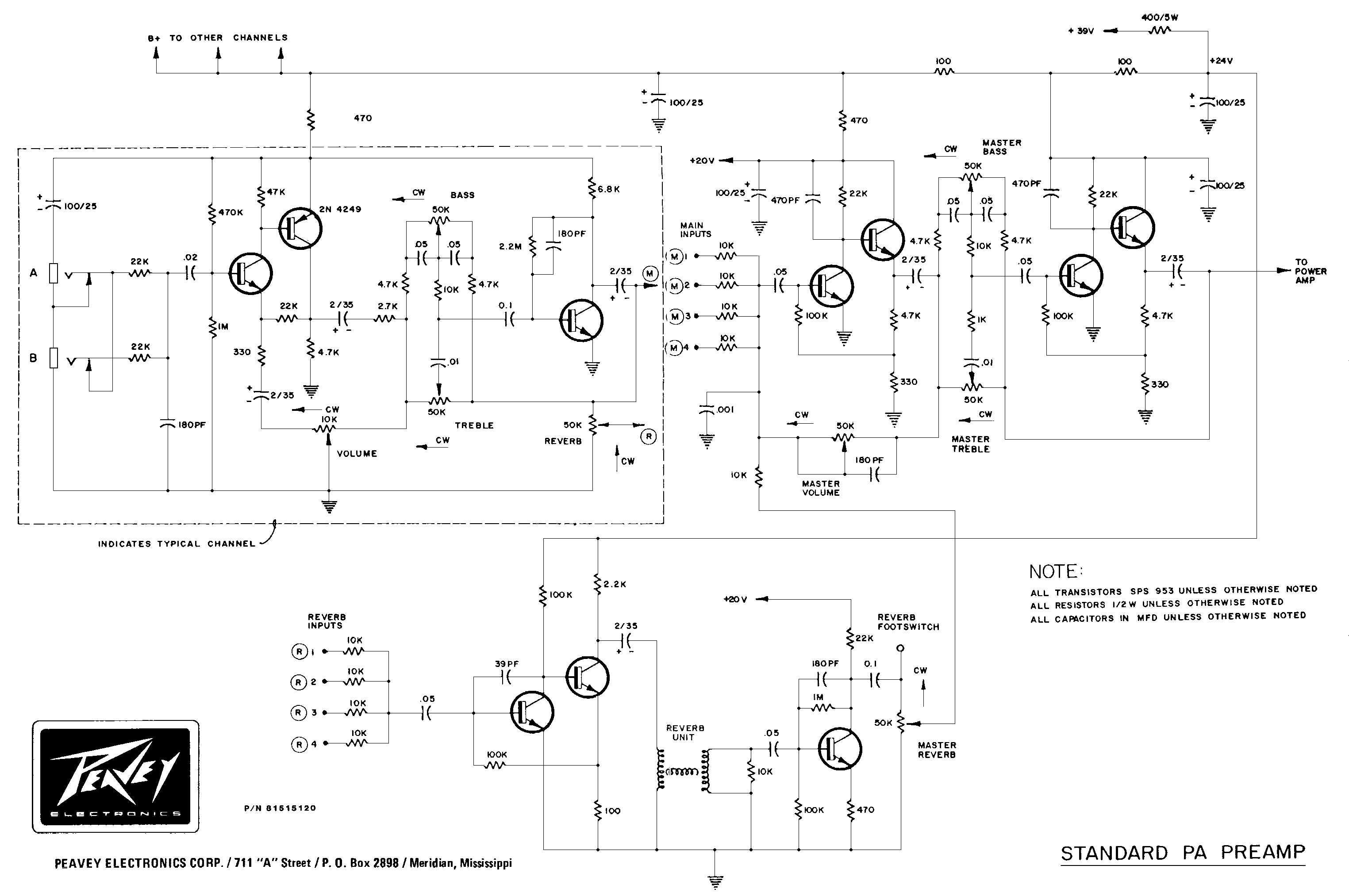 Peavey Jsx Schematic - Wiring Diagram Center