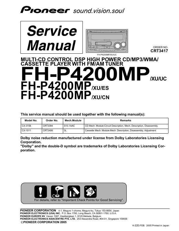 Pioneer Fh P4200Mp Инструкция