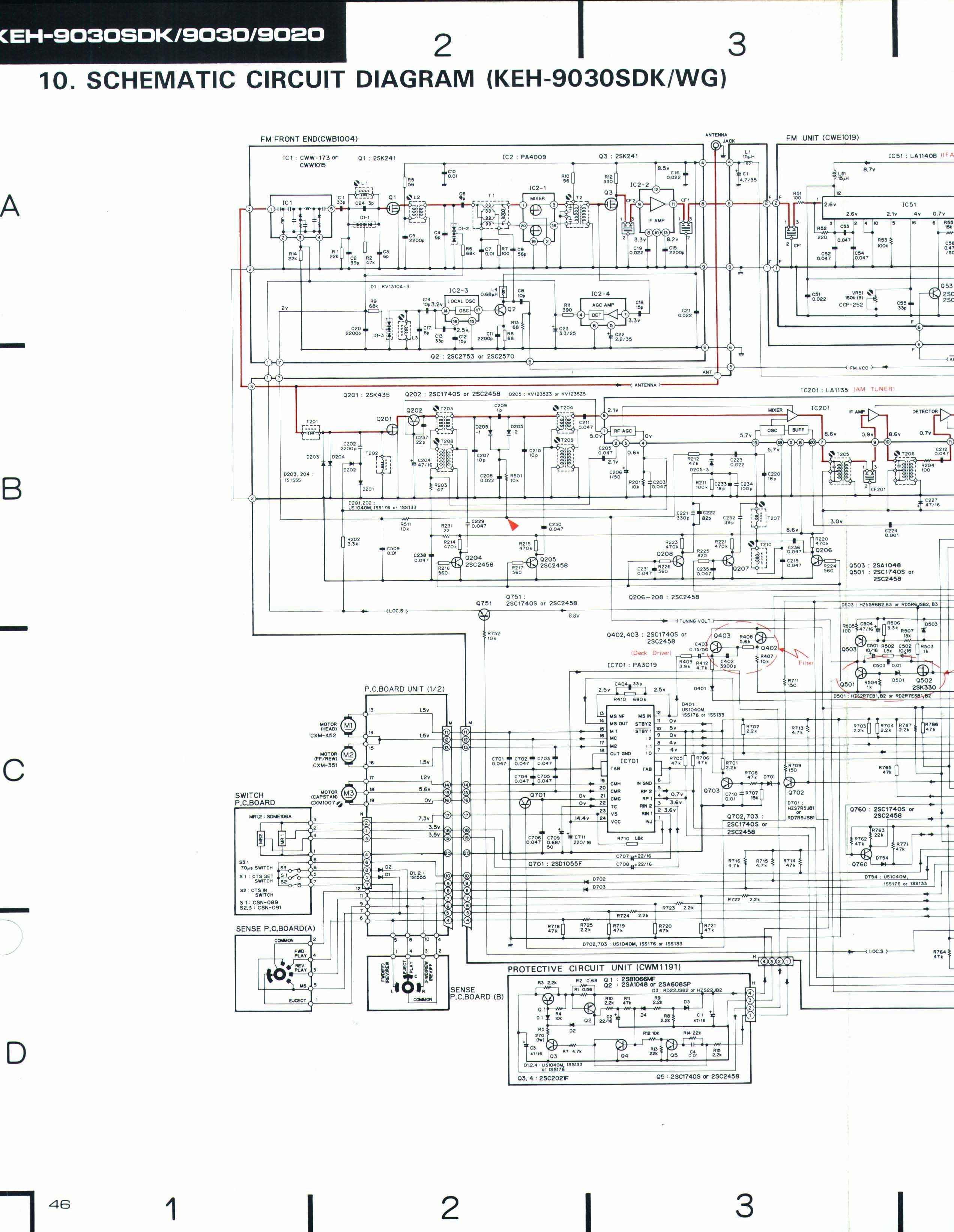Электронная схема магнитолы пионер