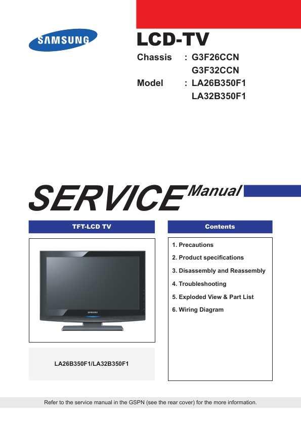 Сервисная инструкция Samsung LA-26B350F1, LA-32B350F1 - Bugera