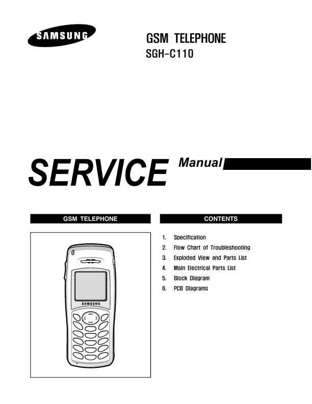 List of SAMSUNG User and Service Manuals