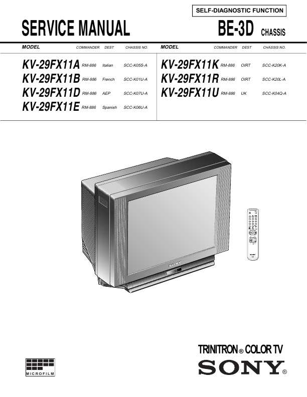 Sony kv x2901k схема