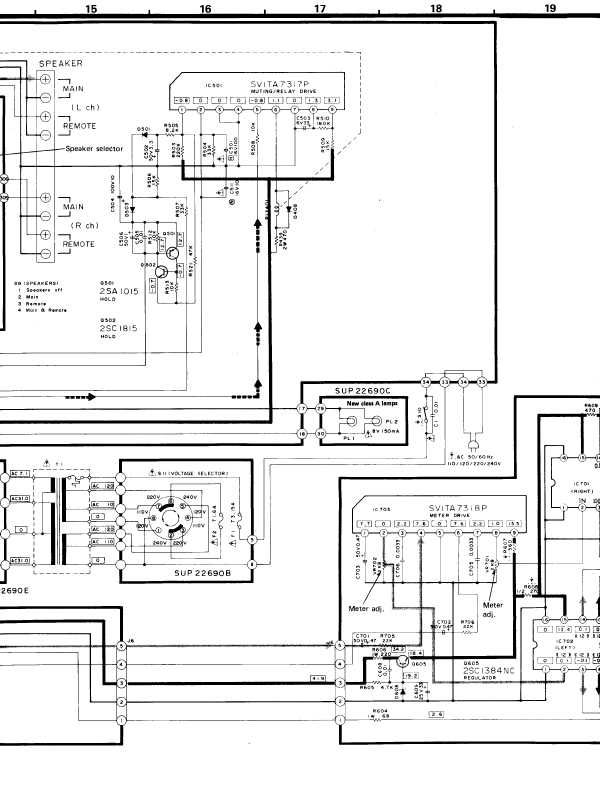 Схема усилителя Technics SU-Z11