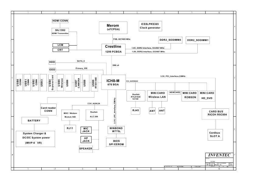 Схема Toshiba