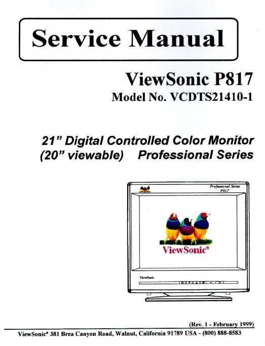 Viewsonic instruction manuals