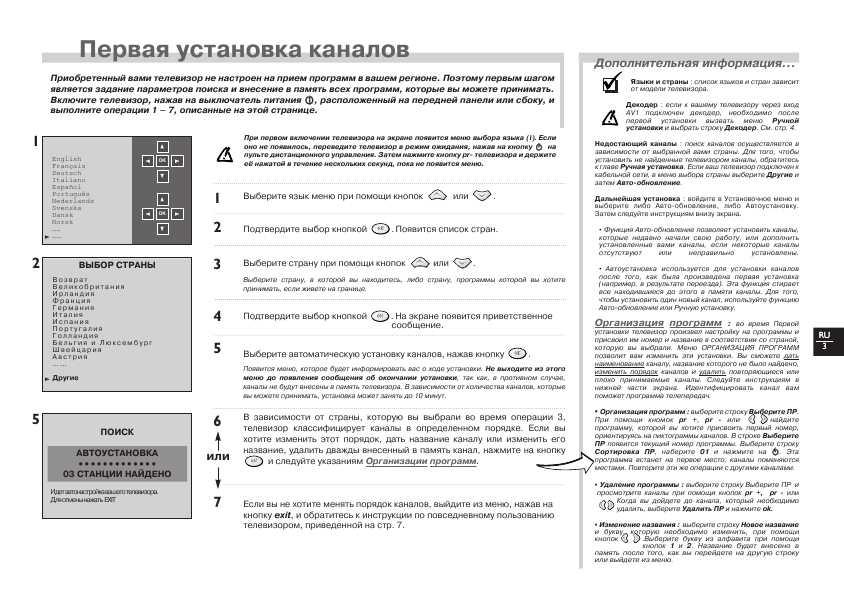 инструкция к телевизору томсон rp1006554
